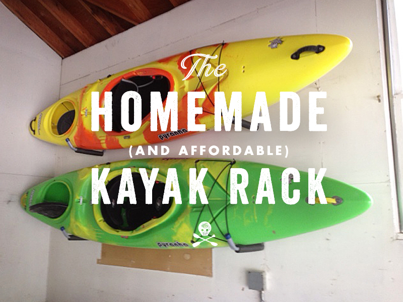 Kayak Wall Hanger >> Homemade Affordable Kayak Rack Miles Paddled